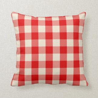 Almofada Travesseiro vermelho do guingão