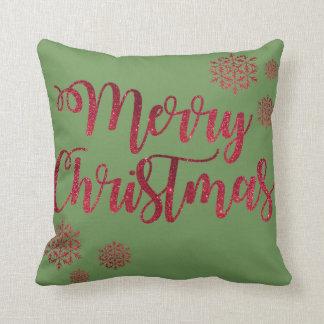 Almofada Travesseiro vermelho do Natal do floco de neve do