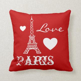 Almofada Travesseiro vermelho do quarto da torre Eiffel de