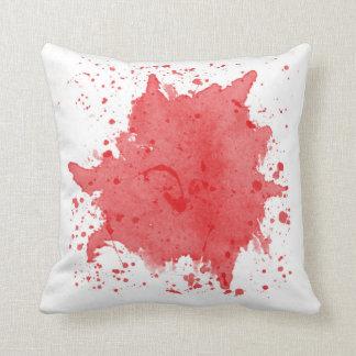 Almofada Travesseiro vermelho do Splatter