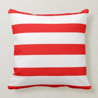 Almofada Travesseiro vermelho e preto e branco reversível