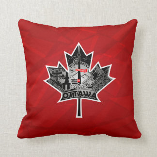 Almofada Travesseiro vermelho escuro com design especial da