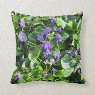 Almofada Travesseiro violeta do primavera - série da milha