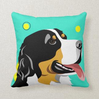 Almofada Travesseiros coloridos do amante do cão de