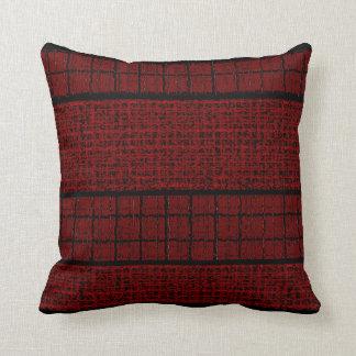 Almofada Travesseiros Decoração-Macios pretos vermelhos da