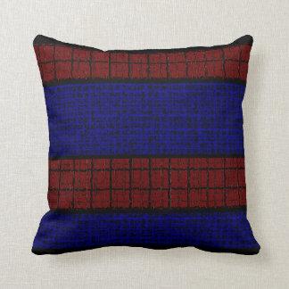 Almofada Travesseiros Decoração-Macios vermelhos do preto