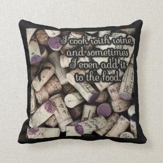 Almofada Travesseiros decorativos das citações das cortiça