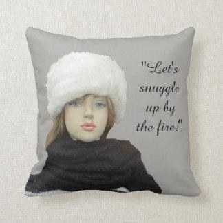 Almofada Travesseiros decorativos do inverno - (mensagem