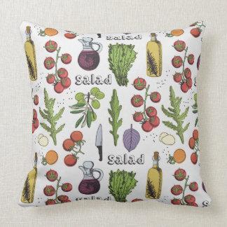 Almofada Travesseiros decorativos do teste padrão da salada