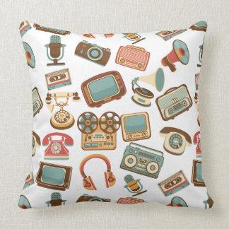 Almofada Travesseiros decorativos retros do teste padrão