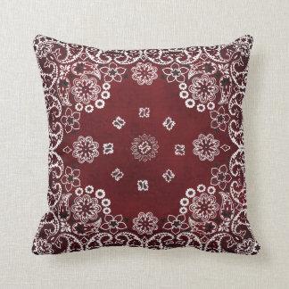 Almofada Travesseiros decorativos vermelhos ocidentais do