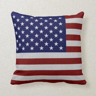 Almofada Travesseiros do olhar do vintage da bandeira dos