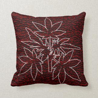 Almofada Travesseiros do Vermelho-Branco-Desenho de Bubs da