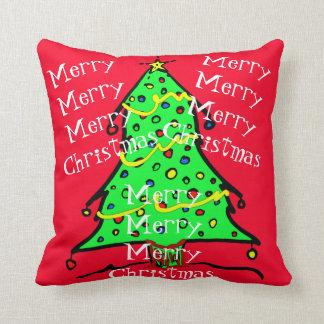 Almofada Travesseiros festivos do feriado da árvore do