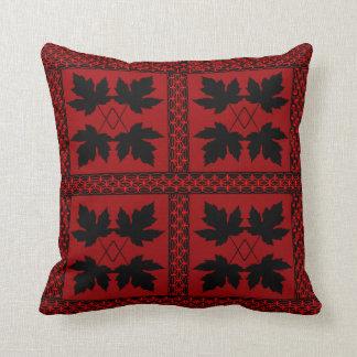 Almofada Travesseiros populares da natureza preta vermelha