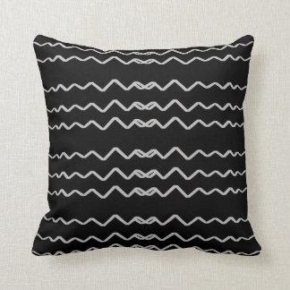 Almofada Travesseiros pretos Decoração-Macios alegres de