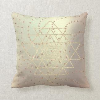 Almofada Triângulos cor-de-rosa do ouro de Swarovski dos