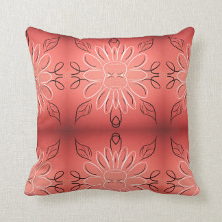 Almofada Um travesseiro coral de Borgonha