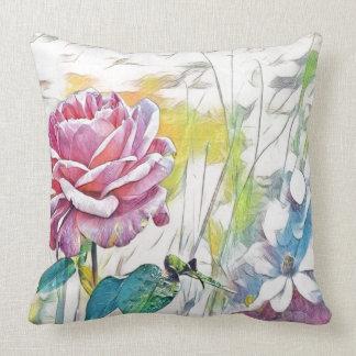 Almofada único travesseiro decorativo do rosa do rosa