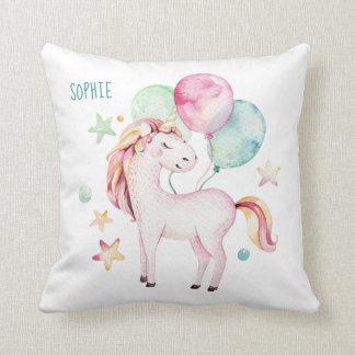 Almofada Unicórnio com a decoração do quarto dos balões +