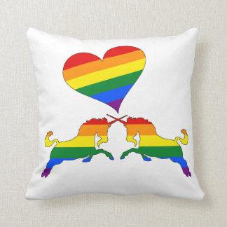 Almofada Unicórnios do arco-íris