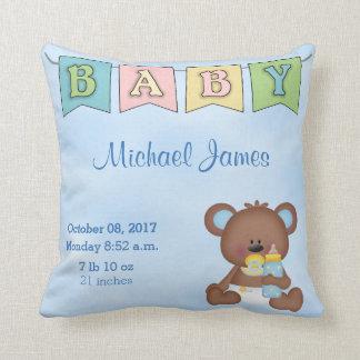 Almofada Urso de ursinho do bebé do Stats do nascimento