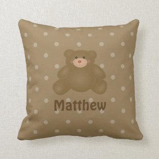 Almofada Urso e bolinhas de ursinho peluches bonito do bebê