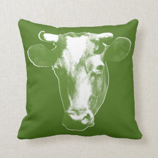 Almofada Vaca verde do pop art