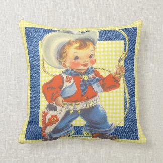 Almofada Vaqueiro pequeno retro ocidental com travesseiro