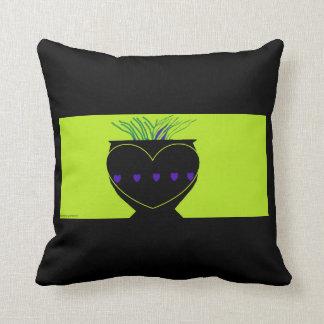 Almofada Vaso preto bonito do travesseiro decorativo macio