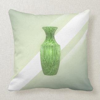 Almofada Vaso verde decorativo