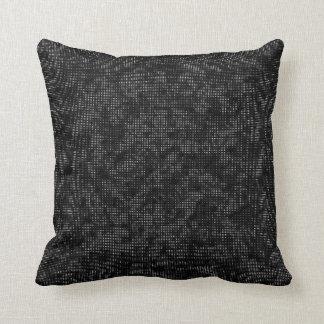 Almofada Vegetação da reticulação preto e branco
