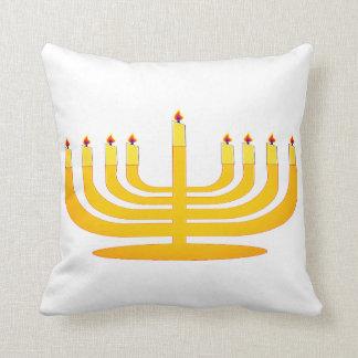 Almofada Vela Hanukkah Menorah novo do travesseiro 2017 do