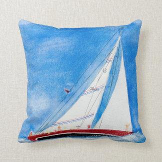 Almofada veleiro da aguarela