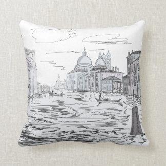 Almofada Veneza. Cidade na água