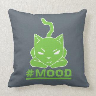 Almofada Verde do gato do #MOOD