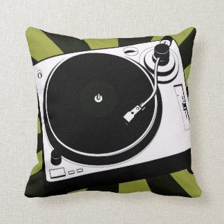 Almofada Verde do travesseiro decorativo do disco-jóquei da