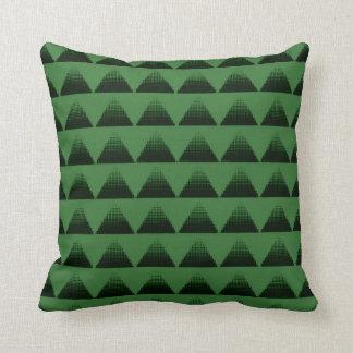 Almofada Verde dos triângulos da reticulação