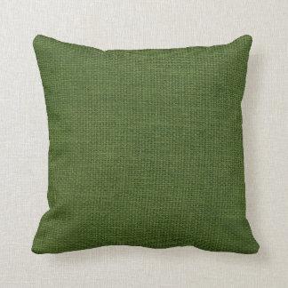 Almofada Verde escuro simples de serapilheira