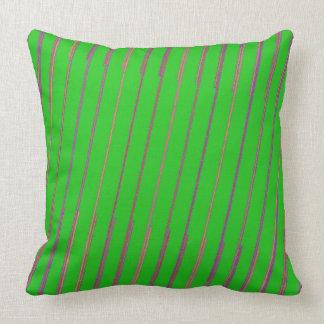 Almofada Verde limão e travesseiro cor-de-rosa e roxo das