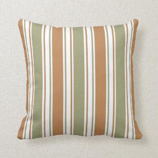 Almofada Verde moderno e listra de Brown