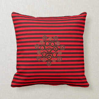 Almofada Vermelho e travesseiro quadrado listrado Borgonha
