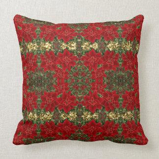Almofada Vermelho & travesseiro decorativo do teste padrão