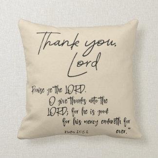 Almofada Verso da bíblia dos salmos com obrigado você,
