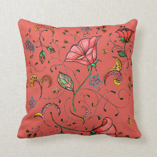 Almofada Videira floral fresca lunática do design original