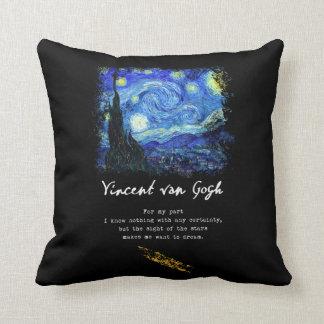 Almofada Vincent van Gogh. Arte do poema da pintura da