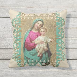 Almofada Virgem Maria com criança Jesus do cristo