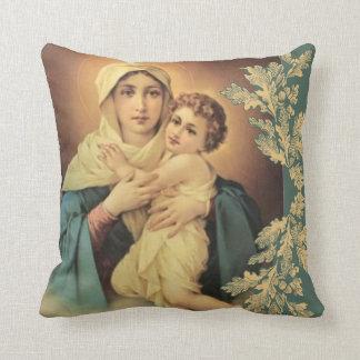 Almofada Virgin Madonna Mary com bebê Jesus