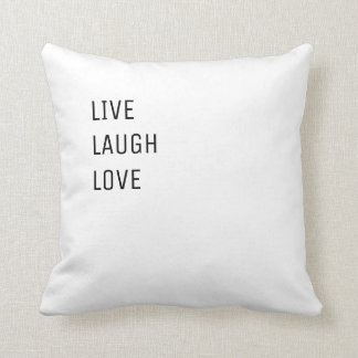 Almofada Vive o amor | dois modernos simples do riso em um