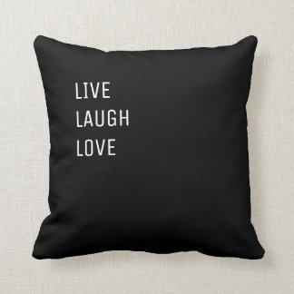 Almofada Vive o amor | dois preto e branco do riso em um
